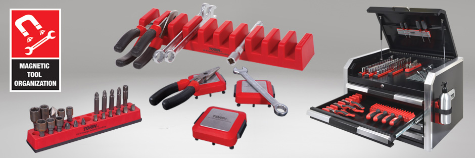 Torin Big Red Tool Organizer Magnetic Lock-A-Wrench Rack